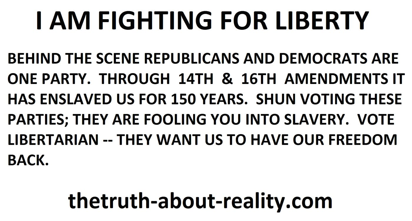I am fighting to get our liberty back
