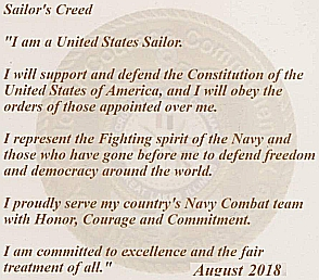 navy sailor's oath